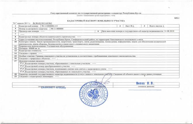 Земельный участок пгт. Николаевка 4,96 га