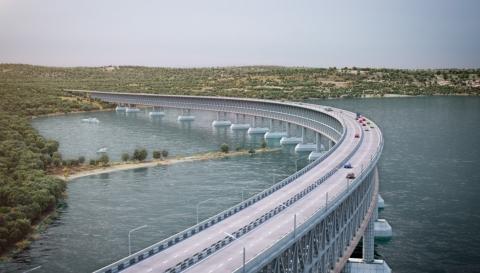 Росавтодор выдал разрешение на строительство моста через Керченский пролив